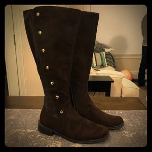 Aerosoles Brown Suede & Leather Rideover Boots